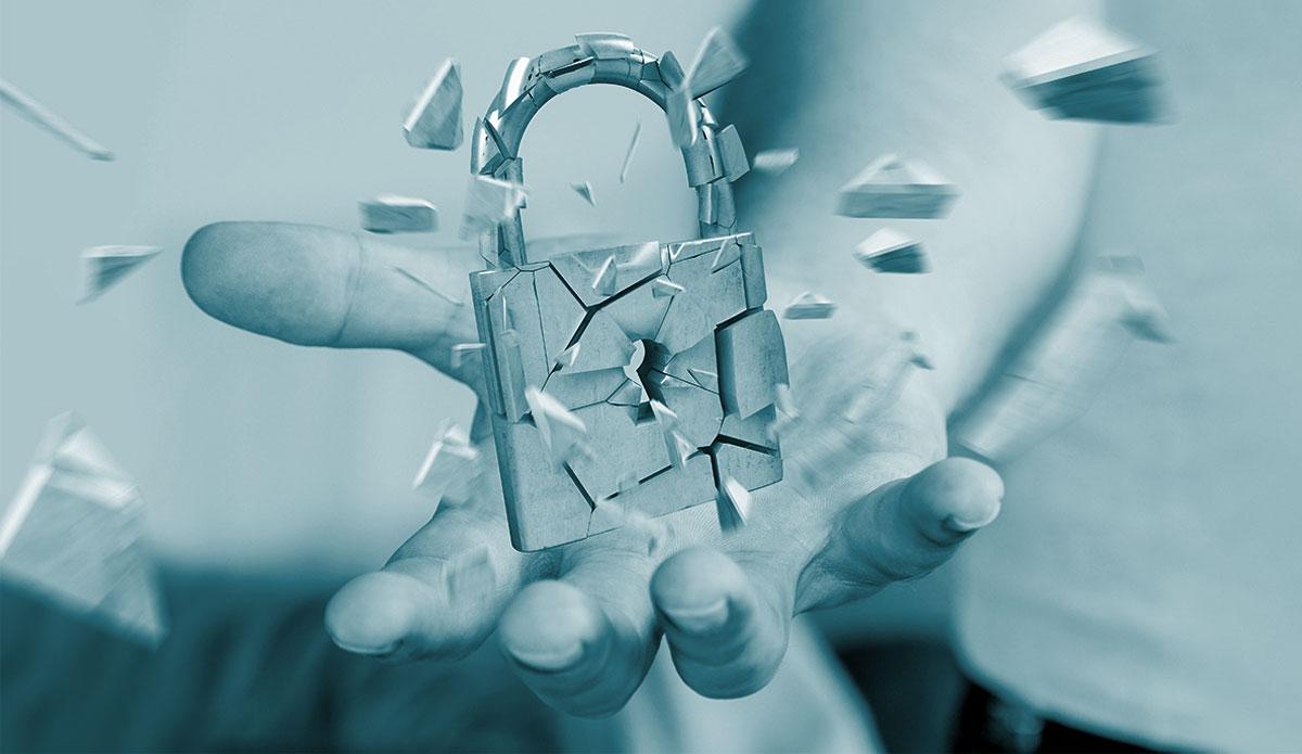 broken padlock, commercial burglary